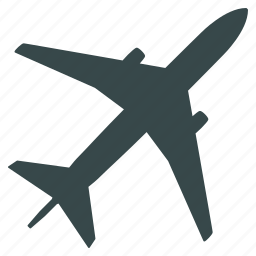 aircraft, airline, airplane, airport, aviation, flight, jet plane icon