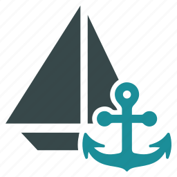 anchor, boat, marine, naval, port, sailing, vessel icon