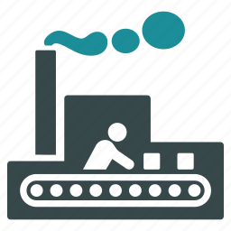 conveyor, factory, industrial, industry, manufacturing, production, work icon