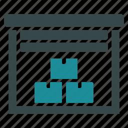 cargo, freight, logistic, logistics, storage, store, warehouse icon