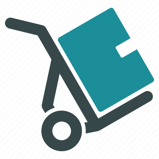 box, cart, pack, package, retail, transportation, trolley icon