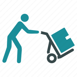 delivery, shopping, transfer, transport, transportation, warehouse, worker icon