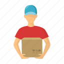courier, delivery, goods, logistics, service, supply icon