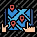 app, destination, gps, logistics, map, navigator icon