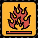 danger, fire, flammable, logistics, package, sign