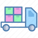 cargo, delivery service, delivery van, load, logistics, package, parcel, shipment icon