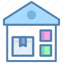 gift, godown, parcel, storage, storehouse, warehouse icon