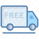 delivery truck, delivery van, free delivery, logistics, service, shipping icon