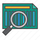barcode, scanning, tracking icon