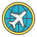 airmail, cargo, global, globe, international icon