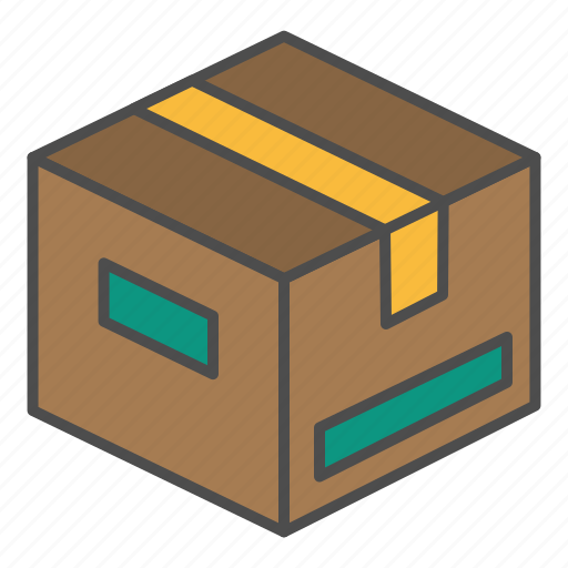 delivery, package, parcel, top icon
