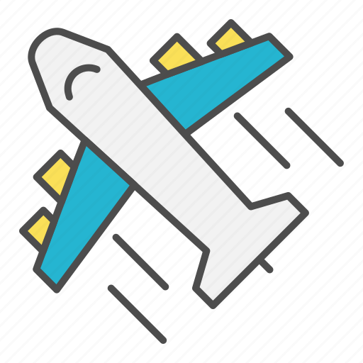 aircraft, airmail, fast, logistics, plane icon