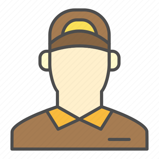 arrival, delivery, order, postman, ups icon