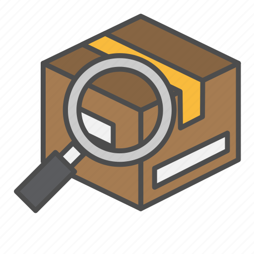 cargo, parcel, search, tracking icon