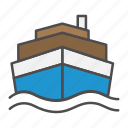 cargo, ship, shipping, transport icon