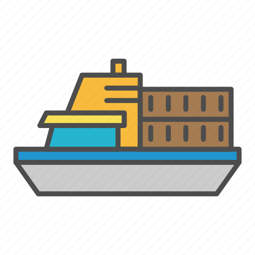delivery, load, ship, shipping, transport icon