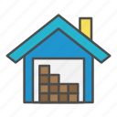 center, logistics, storage, store, warehouse icon