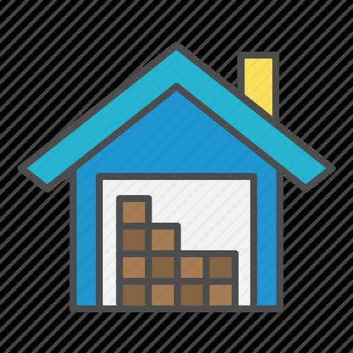 center, logistics, storage, store, warehouse icon