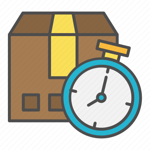 delivery, improvement, time, tracking icon