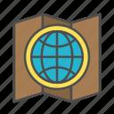 grade network, logistics, map, planning, world icon
