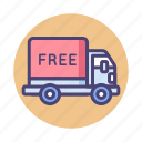delivery, free, truck, shipping, van, free shipping