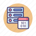 data, data server, database, master, master data icon