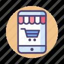 mobile shopping, online, online shopping, online store, retail, shopping icon