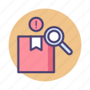 inspection, packaging, parcel icon