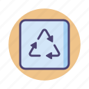 label, recycle, recycling icon
