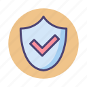 safety, secured, shield icon