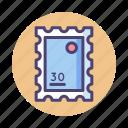 stamp, sticker