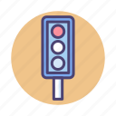 light, traffic, traffic light icon