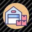 storage, storage unit, store, warehouse icon