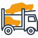 car, logistics, auto transporter, truck