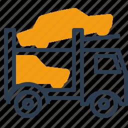 auto transporter, car, logistics, truck icon