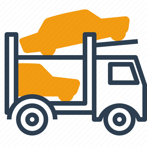 auto transporter, car, logistics, truck icon