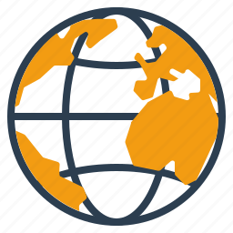 globe, international, shipment, world icon
