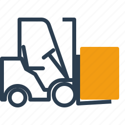 forklift, loader, warehouse icon