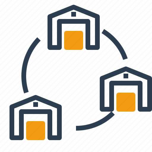 connection, network, storage, warehouse icon
