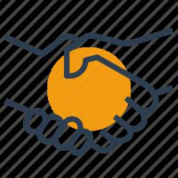 deal, handshake, logistics, partner icon