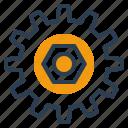 cargo, gear, parts, spare icon