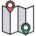 destination address finder, delivery location search, placeholder, map and destination, gps icon
