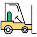 loading truck, warehouse management, forklift, bendi truck, material handling icon
