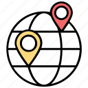 delivery location, global map, global access, global location, gps icon