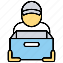 cargo service, courier service, delivery service, logistics service, shipping service icon