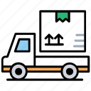 dynamic cargo service, express delivery, fast shipping, quick logistics, rush courier icon