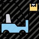 loading truck, stacker, forklift, warehouse management, material handling icon