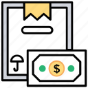 cash on delivery, payment option, retailer, cod, mail order icon