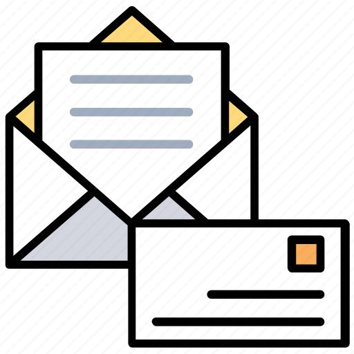 business mail, govt postal service, official letter, postal mail, professional mail icon