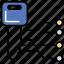 data warehouse, digital storage unit, digital warehouse capacity, ecommerce element, storage capacity icon